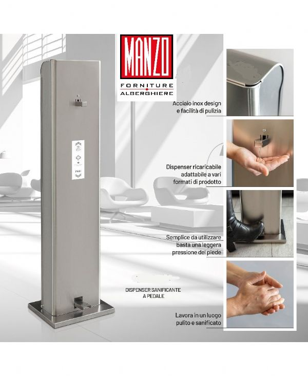 DISPENSER GEL DISINFETTANTE DISPENSER A PEDALE GEL DISINFETTANTE